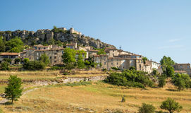 Scenic old hilltop village in Provence region of France Royalty Free Stock Photography