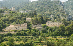 Scenic old hilltop village in Provence region of France Royalty Free Stock Photos