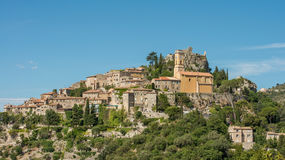 Scenic old hilltop village in Provence region of France Stock Photography