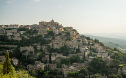 Scenic old hilltop village in Provence region of France Royalty Free Stock Image