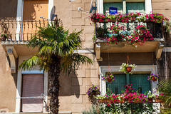Scenic Old House Facade in Opatija Stock Image
