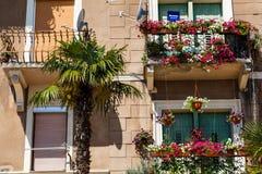 Scenic Old House Facade in Opatija stock image