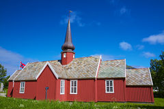 Church in Flakstad Stock Image