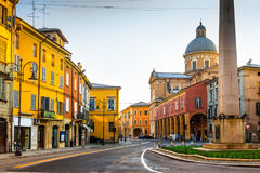 Scenic old street in Reggio Emilia Royalty Free Stock Images