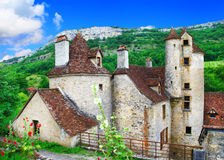 Scenic old villages of France ,Dordogne Royalty Free Stock Photography