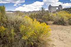 Scenic Old West Desert Ruins Royalty Free Stock Image
