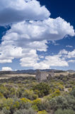 Scenic Old West Desert Ruins Royalty Free Stock Photography