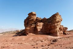 Scenic orange rock in stone desert Royalty Free Stock Photography
