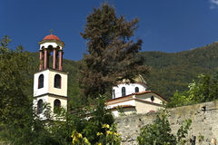 Scenic orthodox monastery at north Greece Royalty Free Stock Image