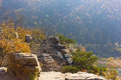 Scenic outlook at high point of Harpers Ferry National Park in West Virginia, USA. Royalty Free Stock Photography