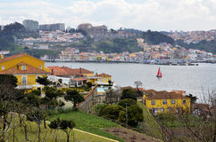Scenic over the Douro river Stock Images
