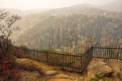 Overlook in the Blue Ridge Mountains of Georgia royalty free stock image