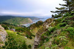 Scenic overlook at Muir Beach, California Royalty Free Stock Photo