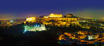 Scenic overview of Athens with Acropolis Royalty Free Stock Photo