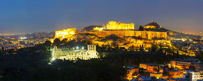 Scenic overview of Athens with Acropolis Stock Photo