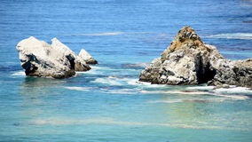 The Scenic Pacific Ocean. Pacific Ocean Waves Crashing on Rocks - Big Sur stock footage
