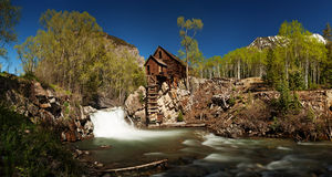 Scenic panorama of Crystal Mill in Colorado Royalty Free Stock Image