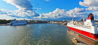 Scenic panorama of Helsinki, Finland Stock Images