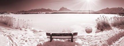 Scenic panorama landscape in Bavaria Royalty Free Stock Photo