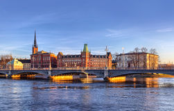 Scenic panorama of Stockholm Stock Photos