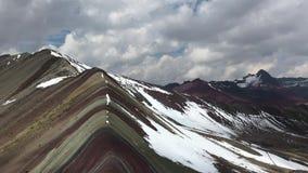 Rainbow mountains panorama stock footage