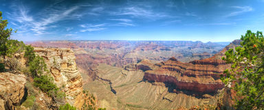 Scenic panoramic overview of the Grand Canyon Stock Photos