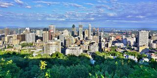 Scenic panoramic view of Montreal in Quebec, Canada Stock Images