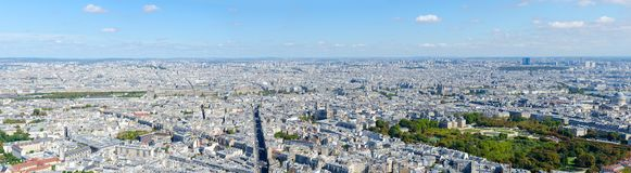 Scenic panoramic view from top to Paris, France royalty free stock photo