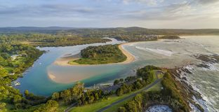 Mossy Point Australia panorama Stock Images