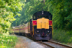 Scenic passenger train Stock Image