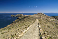 Scenic path on Isla del Sol Royalty Free Stock Image
