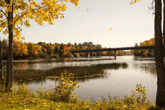 Scenic Penobscot River Royalty Free Stock Images