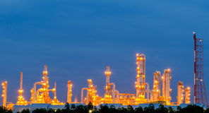 Scenic of petrochemical oil refinery plant Royalty Free Stock Photo