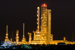 Scenic of petrochemical oil refinery plant Royalty Free Stock Image