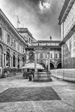 The scenic Piazza Mercanti & x28;Merchants& x27; Square& x29; in Milan, Italy Royalty Free Stock Photography
