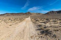 Arizona desert in January, USA. Scenic picture of the beautiful horizon in Arizona desert, USA Stock Photo