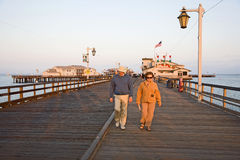 Scenic pier in Santa Barbara Royalty Free Stock Images