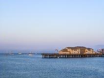 Scenic pier in Santa Barbara Royalty Free Stock Image