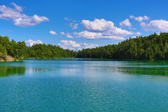 Scenic Pink Lake in Gatineau Park Royalty Free Stock Photos