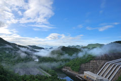 Scenic point of the dam Royalty Free Stock Photos