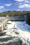 Scenic Post Falls dam. Stock Photos