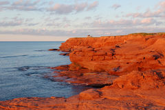 Scenic Prince Edward Island. Red sand dunes at Cavendish East, Prince Edward Island, Canada Royalty Free Stock Images