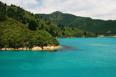 Scenic Queen Charlotte sound Stock Photography