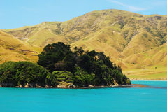 Scenic Queen Charlotte sound from water Royalty Free Stock Photography