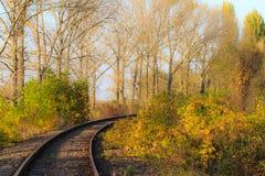 Scenic railroad in autumn Stock Photo