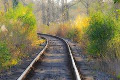 Scenic railroad in autumn Stock Photography