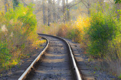 Scenic railroad in autumn Stock Photography
