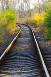 Scenic railroad in autumn Stock Images