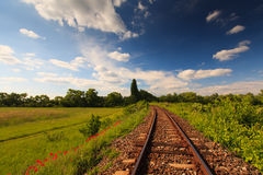 Scenic railroad in rural area Stock Images