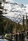 Scenic Railroad on White Pass and Yukon Route in Skagway Alaska Stock Photography
